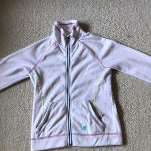 White zip up jacket